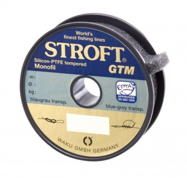 Stroft GTM Silicon-PTFE tempered Monofil 0,25mm 6,4kg grau - Monofile Schnur